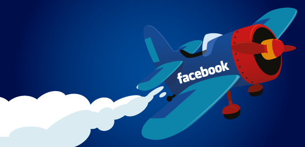 Top 50 compagnies aériennes Facebook gros plan
