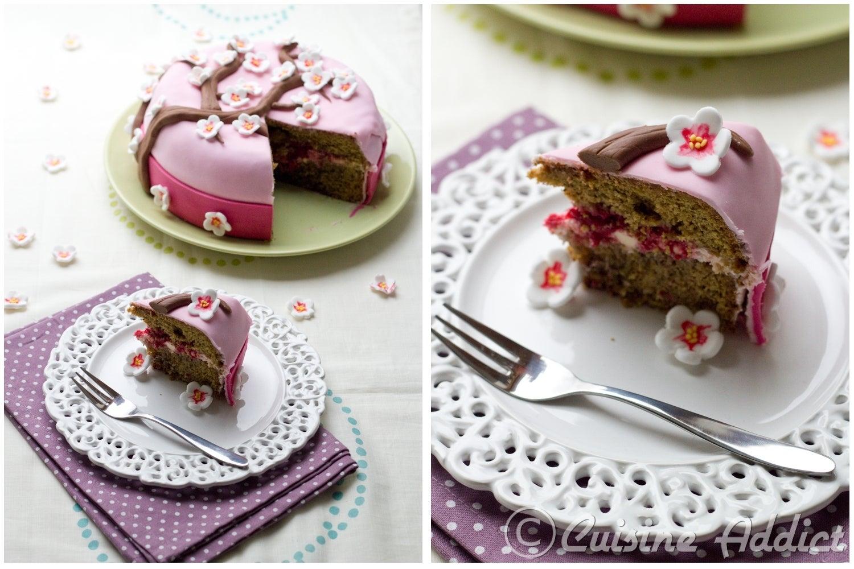 Cherry Blossom Cake - Cuisine Addict