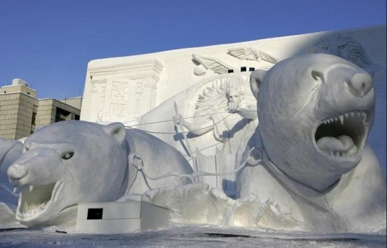 esculturas de neve