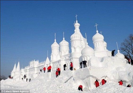 chateau de neige