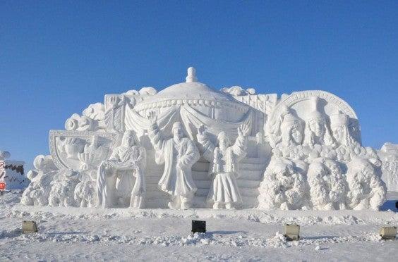 sculpture mongolie