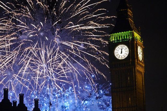 Nouvel an à Londres, Royaume-Uni
