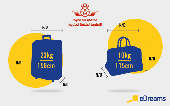 dimensions et poids bagages royal air maroc