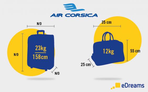 dimension et poids bagages air corsica
