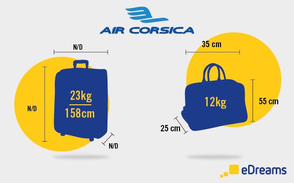 dimensions et poids bagagesair corsica