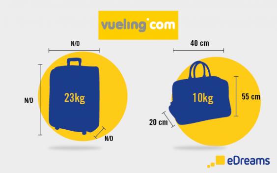 dimensions et poids vueling