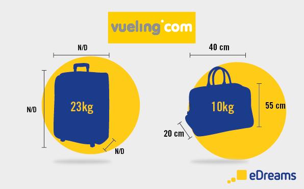 dimensions et poids bagages vueling