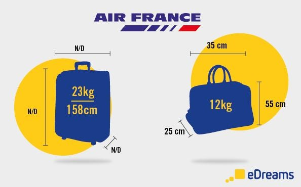 dimensions poids bagages air france