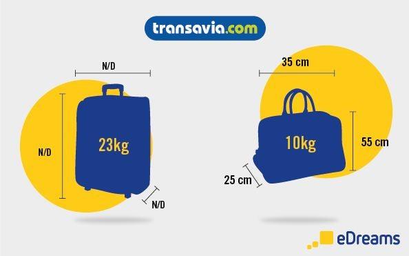 dimensions et poids bagages transavia