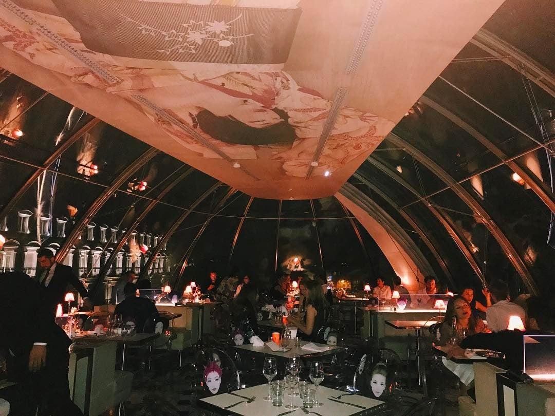 restaurant kong verrière paris
