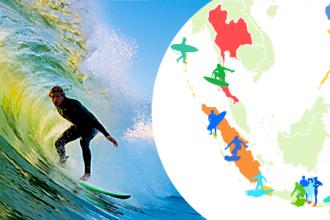 surf asie