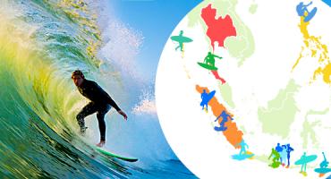 Les 15 meilleures plages d'Asie pour faire du surf