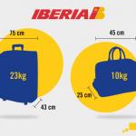 Ibéria augmente les dimensions des bagages à main!