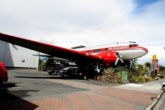 Le mcdonald's avion – taupo, nouvelle zélande