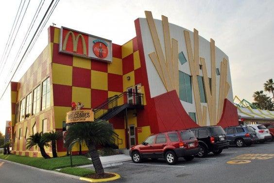mcdonald's cornet de frittes géant, Orlando, floride, USA