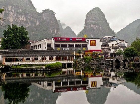 El McDonald's exótico, Yangshuo, China