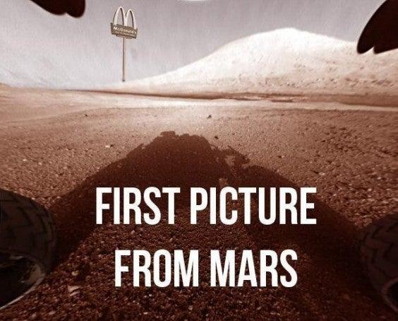 mcdonald's planète mars