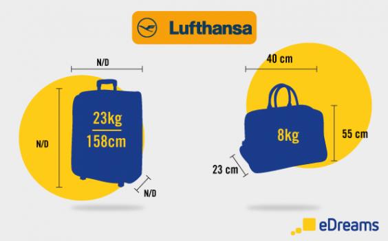 taille et poids des bagages à main Lufthansa
