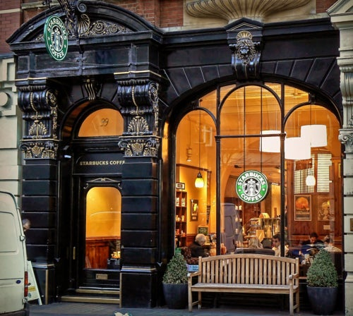 Starbucks, Londres, (Martins Lane)
