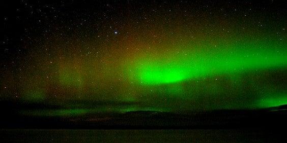 aurores boréales suède