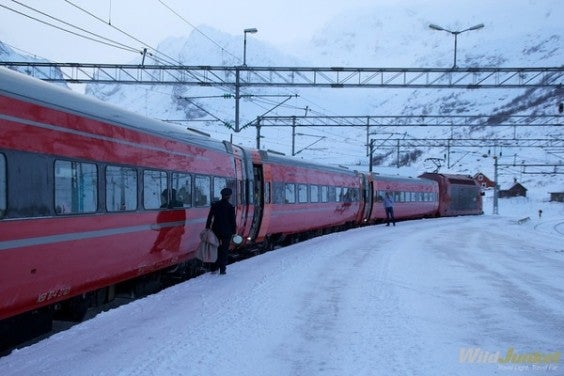 train ligne Kiruna-Narvik laponie