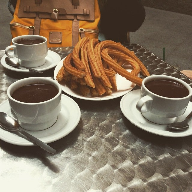 churros con chocolate - Madrid