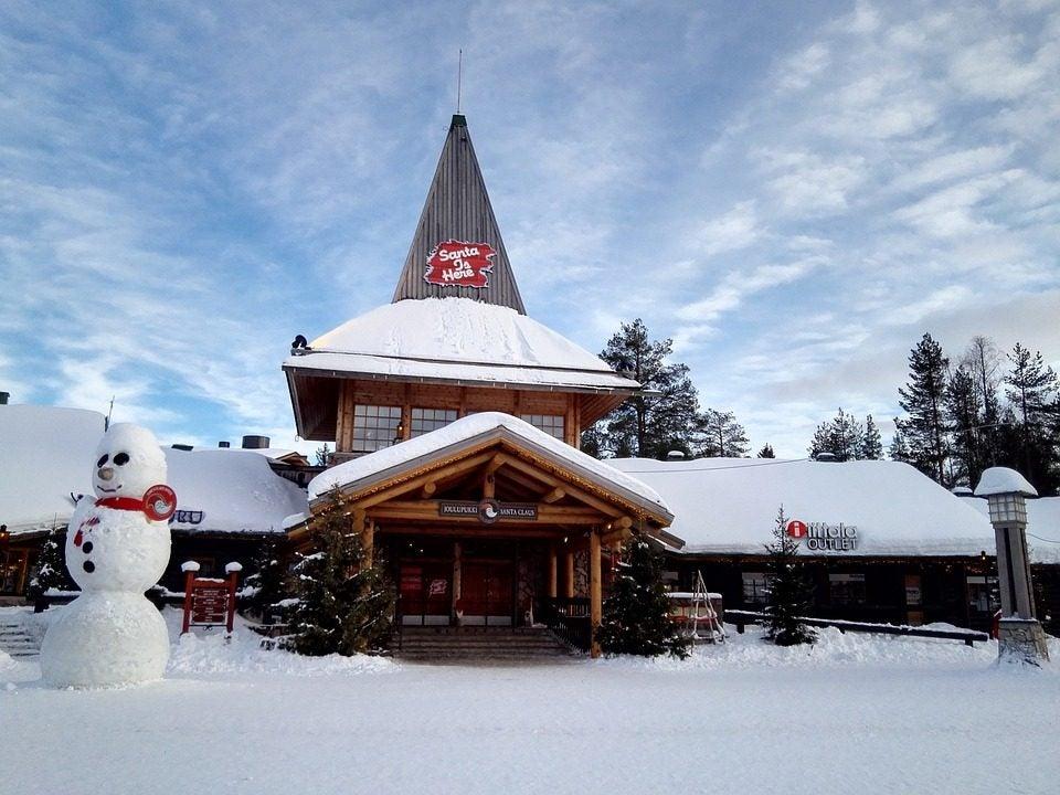 Village du père noël en Finlande