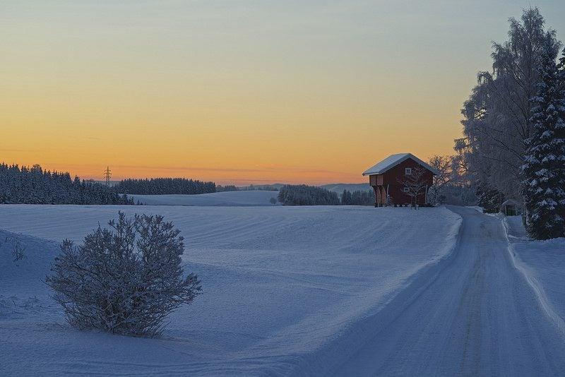 Journée d'hiver en norvège