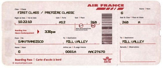 billet d'avion air france