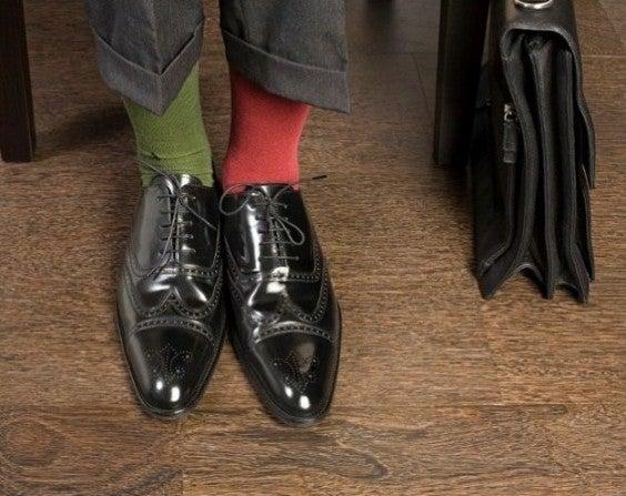 chaussettes différentes aéroport