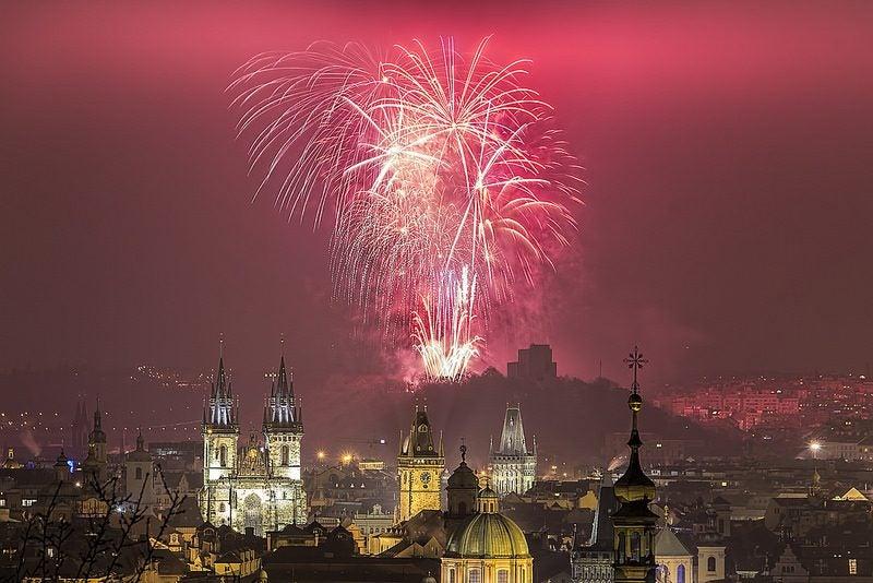 feux d'artifice Nouvel an à Prague - blog eDreams
