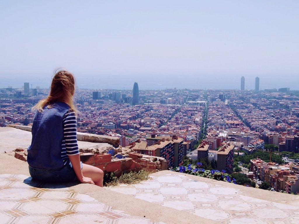 Barcelone vue du bunker