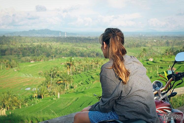 Dans les rizières en terrasse de Jatiluwih - Bali