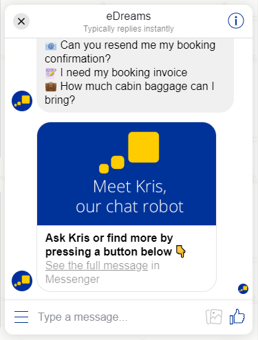 chatbot edreams - blog edreams