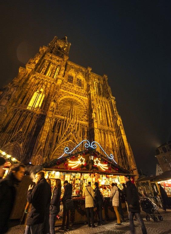 Strasbourg cathédrale décoration noël
