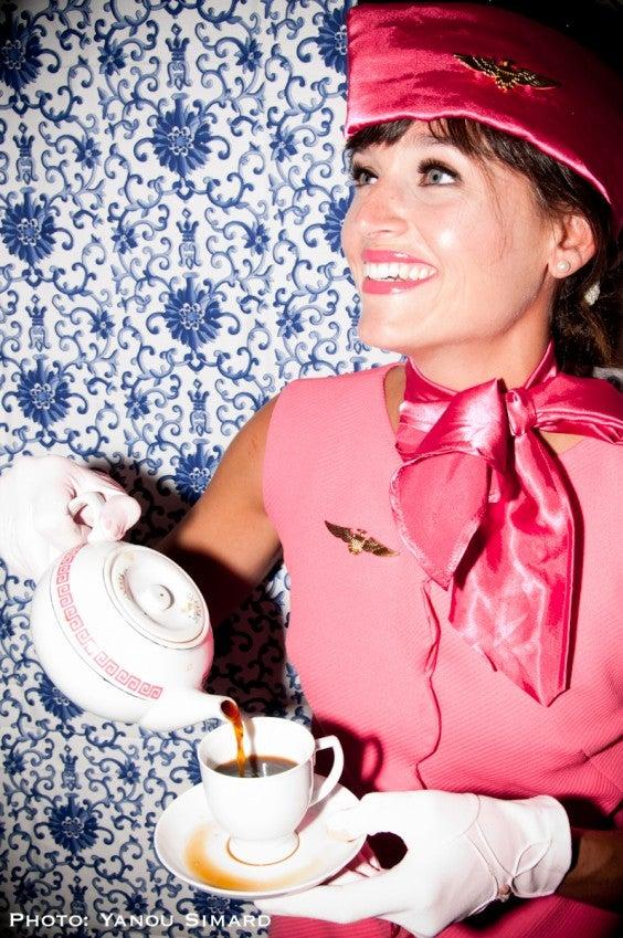 Elizabeth Landry hôtesse de l'air