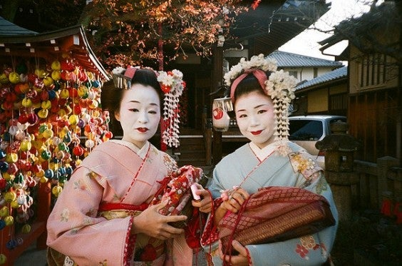 Japonaises en tenue traditionnelle - Edreams