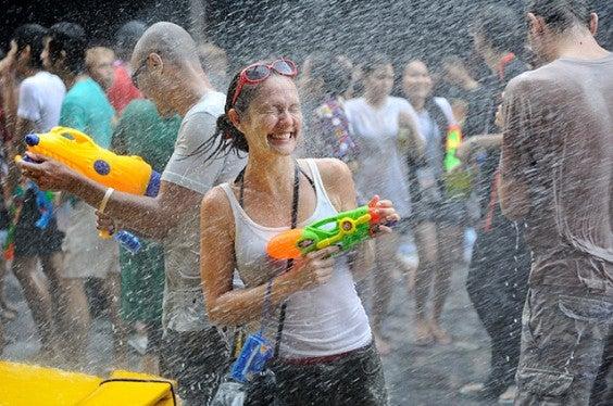 festa di Songkran a Bangkok