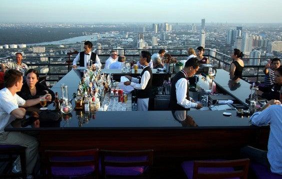 terraza de Vertigo Bar Bangkok