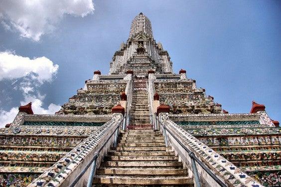 Toit du Temple Wat Arun à Bangkok
