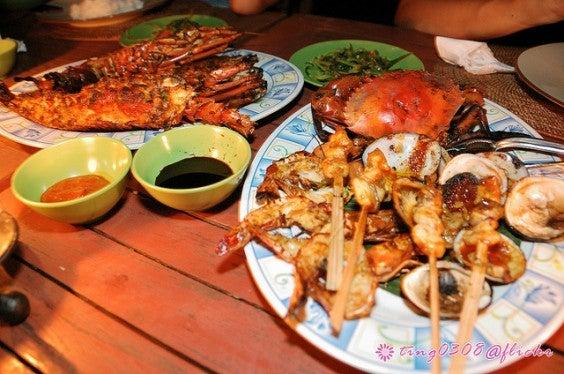 Fruits de mer à Jimbaran Bali