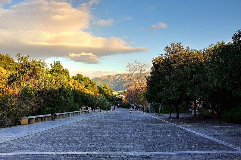 Rue Dionysiou Areopagitou Athènes