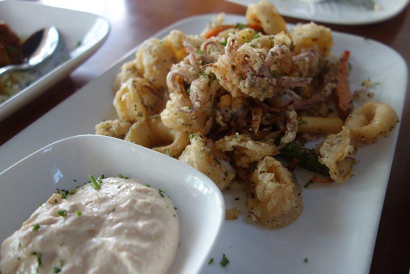 calamars frits en Grèce
