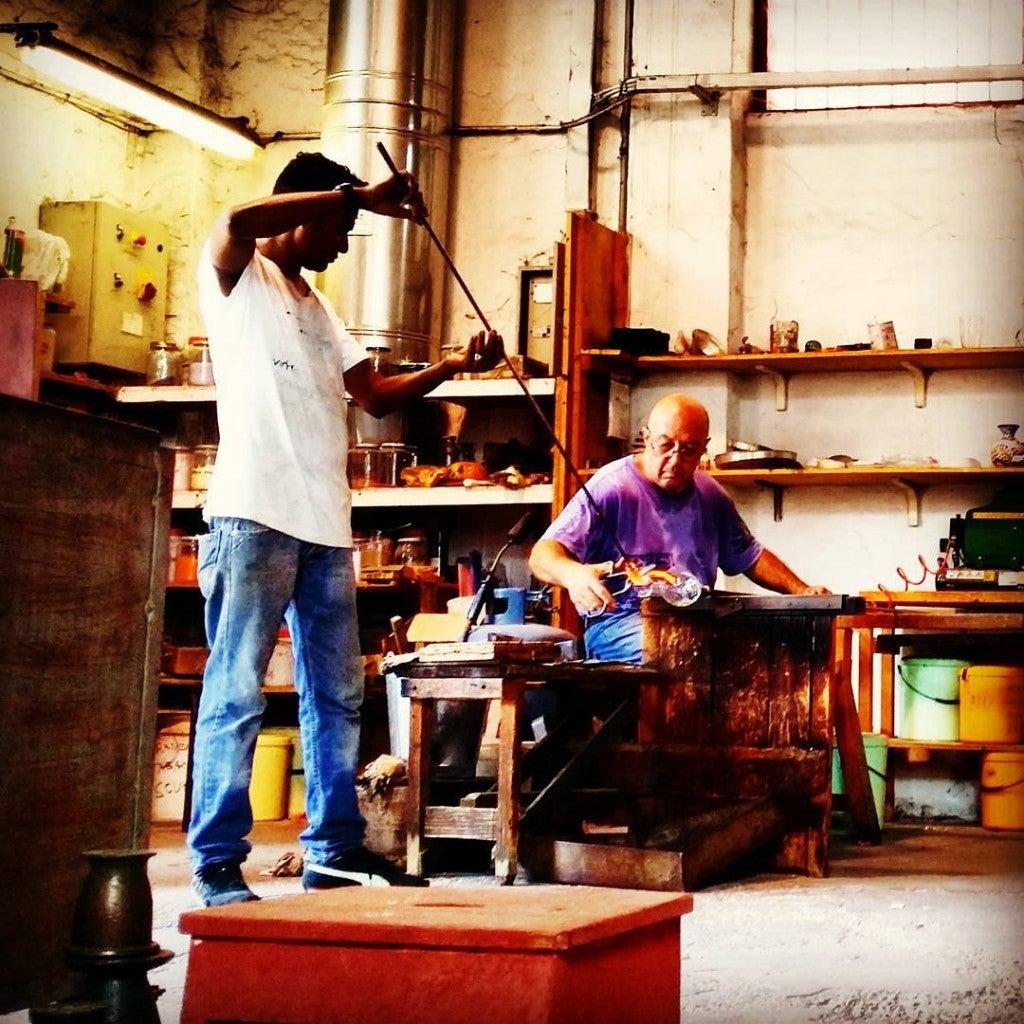 sopradores de vidro em Murano