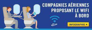 Les compagnies aériennes offrant le wifi en vol