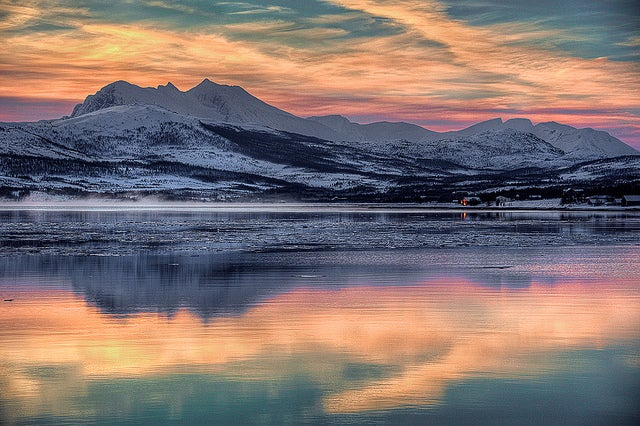 Tromso coucher du soleil