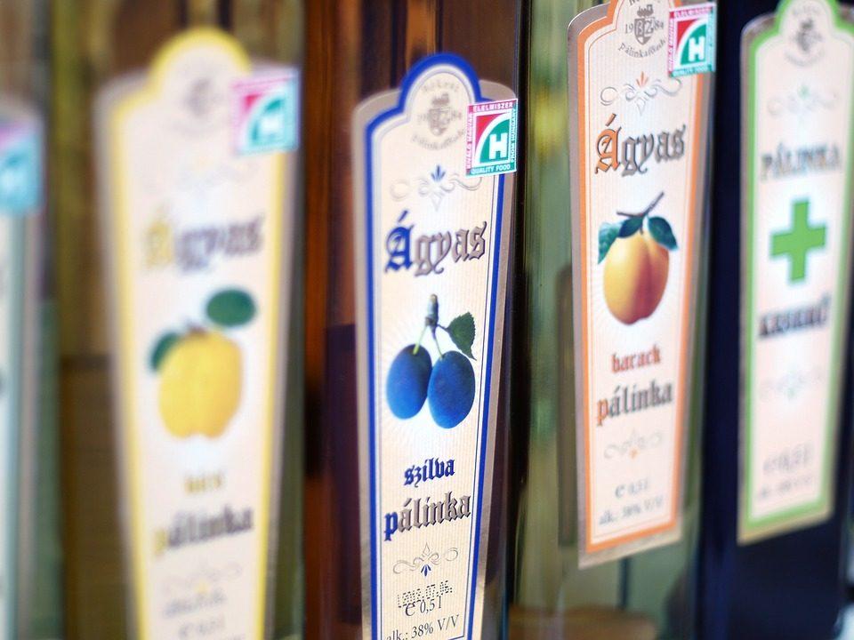 Palinka bouteilles Budapest