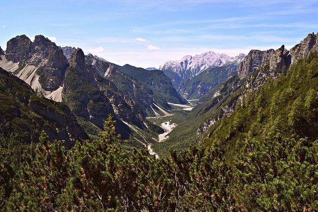 montañas de la región de Friuli