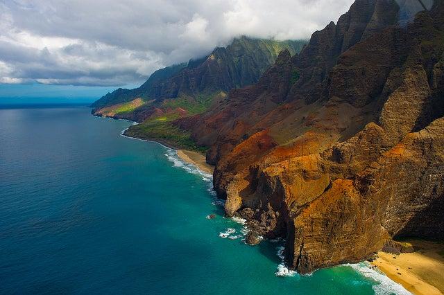 Na Pali Coast en hawai