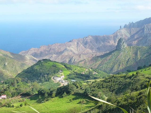 paisaje de la isla de Santa Elena